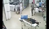 Man is wounded in a medical clinic