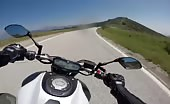 Speeding motorcyclist on road smashes into truck