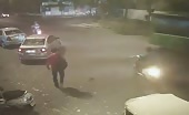 Shocking video of man killed by speeding car