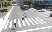Kid riding on bike smashed by car