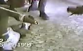 African tribe decapitating intruder