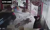 CCTV Camera footage of Car Accident in China