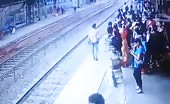 Train suicide live