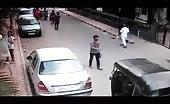 Motorcyclist Kills Man on the street