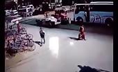 Tractor kills a Fat Woman