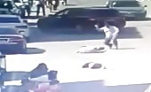 Man Rams Two Persons with Car and Stabs Them