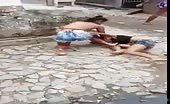 Topless girl catfight in Philippine