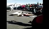 Motorcyclist woman gets head crushed in fatal accident