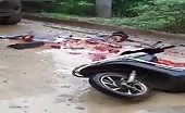 Extremely graphic video of a disorderly motorcyclist