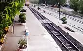 Fail attempt of Train Suicide