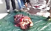 Nasty accident of Chinese woman