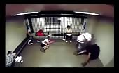 CCTV Footage of a Police Jail Fight