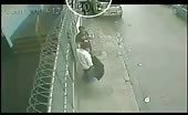 CCTV murder with jammed gun