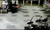Robber Shot by Store Keeper