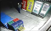 Beer thief gets a gulp of instant karma
