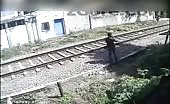 Suicide by Lying Down In Front Of Train