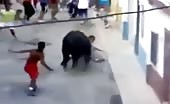 Bull Demolishes A Man In Spain