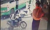 Indian Bus Crushes Man On Motorbike
