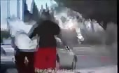 Instant Karma for Gun Holding Thug