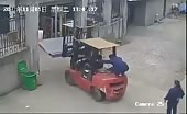 Chinese Woman Crushed By Forklift