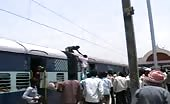 Indian Local Man Grabs The Power Cables Of The Train