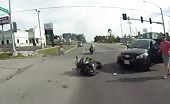 Vicious Motorcycle Crash Rips Girlfriend Foots Off