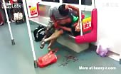 Blood Fight In Asian Subway