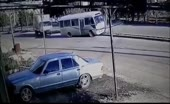 Lady takes off when transport driver hits shaft