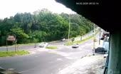 Speeding vehicle pulverizes biker