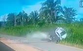 Biker hit in fast