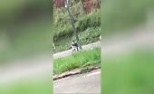 (repost) man starts shooting visible to everyone