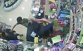 Store agent with blade shot dead