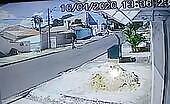 Cctv. mishap vehicle versus motorcyclist