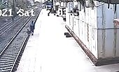 Kid who tumbled from a stage onto rail tracks protected (diverse point).