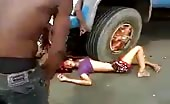 Brazilian Biker Couple killed by truck