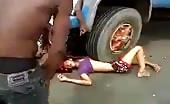 Brazilian Biker Couple killed by truck