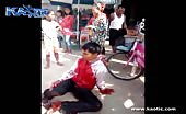 Scooter Rider Prays As He Bleeds Profusely From His Throat