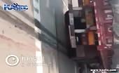 Man is shredded under truck wheels