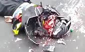 Skull Crushed With Helmet