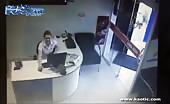 Pickup Slams Through Office Slamming Into Workers