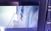 CCTV Footage of Teenage Girl Commits Suicide