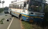 Biker Decapitated By Bus