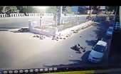 Terrible Motorcycle Accident In India