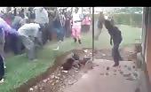 Alleged Thief Savagely Beaten