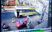 Nasty Bus Accident Crashing Several Motorcyclists