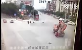 China - Excavator Accident