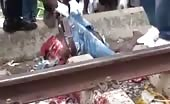 Train Suicide Man Ripped In Half
