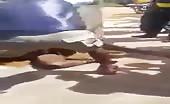 African Woman Beaten & Tortured