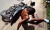 Brutal Motorbike Accident In Brazil