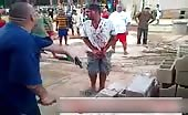 Brazilian Mob Justice Fingers Chopped Off